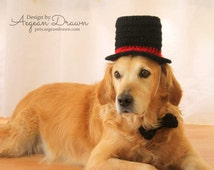 Top Hat for Dogs, Dog Costume, Wedding Dog Attire, Dog Formal Wear, New Year's Eve Dog Outfit, Magician Dog Costume, Halloween Dog Costume