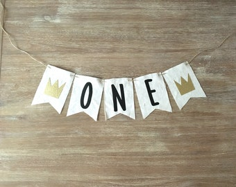 ONE Wild Things Highchair banner-Wild Things First Birthday