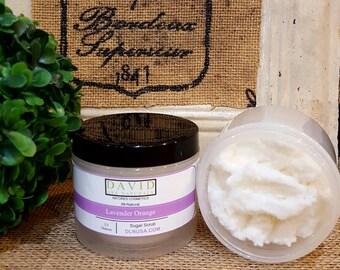 All-Natural Lavender Orange Sugar Scrub