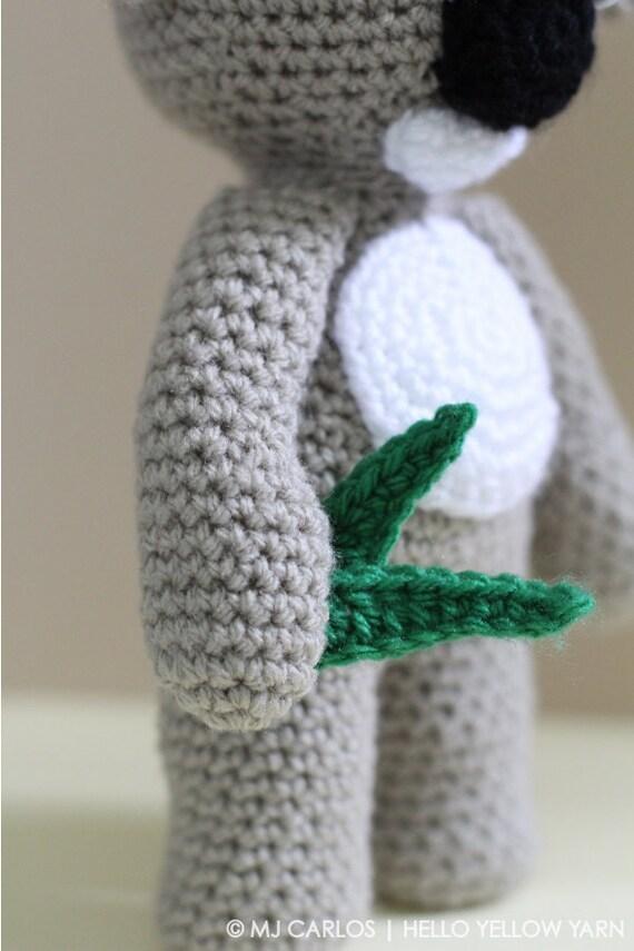 Amigurumi Yarn Australia : Crochet Amigurumi Koala PATTERN ONLY, KC Koala Cute ...