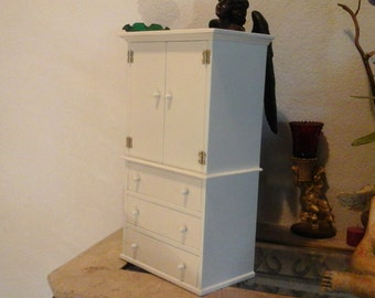 Hand crafted miniature  cabinet  with  drawers