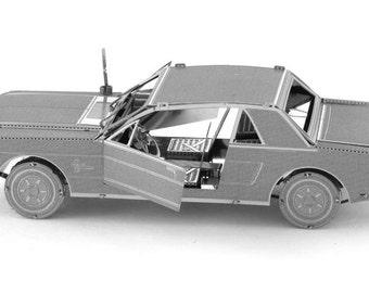 3D Metal Model Kit - 1965 Ford Mustang by Metal Earth
