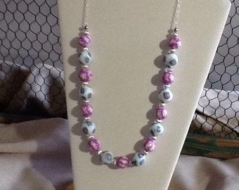 Multi-colored Millefiori Beaded Necklace