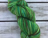 Hand dyed yarn - 8 Ply (DK) - Green Grass Of Home