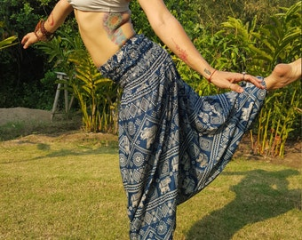 Elephant Pants // Green Elephant Pants // Women's Elephant Pants // Thai Elephant Pants // Elephant // Elephant Trousers