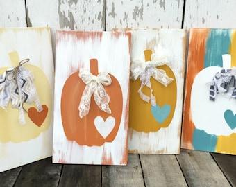 Rustic Fall Pumpkin - Vintage Fall Pumpkin - Pumpkin Sign - Pumpkin Decor - Rustic Fall Decor - Rustic Home Decor - Harvest Decor