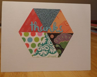 Scrappy thank you card