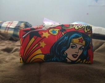 Small Wonder Woman Cosmetic Bag