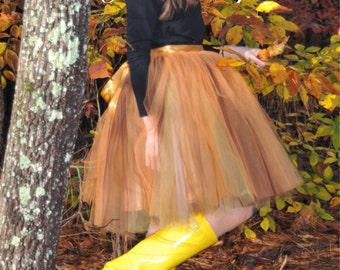 Fall tulle skirt ,Blush tulle skirt , Ladies tutu,Adult tutu,tulle skirt,