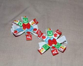 ABC cute handmade clips for your wee girl! Brand new