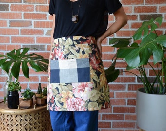 Apron • Half Apron • Gift for Mom • Gift for Friend • Skirt Apron • Handmade Apron • Womens Aprons • Mens Apron •