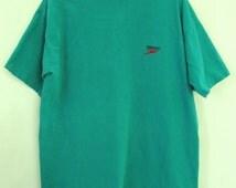 A Mens Vintage 80s Green Indie Mod era SPEEDO T shirt.XL(44R)