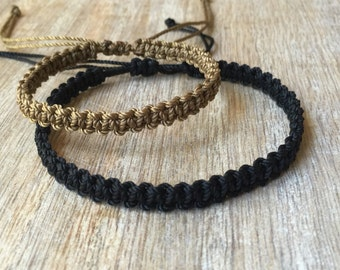 Simple Bracelet Couple Bracelets His and her Bracelet