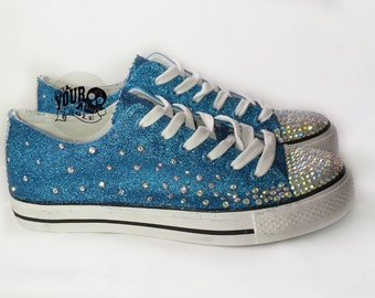 Glitter bridal shoes. gems, glitter bridal pumps, plimsolls, flats. turquoise and silver, sparkly custom made wedding shoes