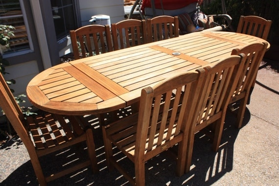 Teak patio set smith hawken brand name outdoor by lianasteak for Smith hawken teak furniture