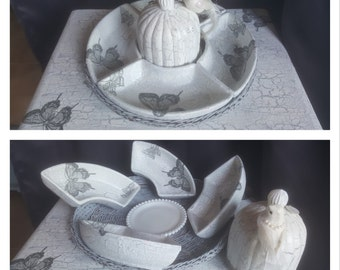 Decorative plate and Bell a candle