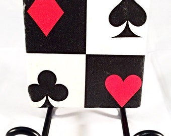 Playing Cards Coaster Set ( includes 4 tiles )