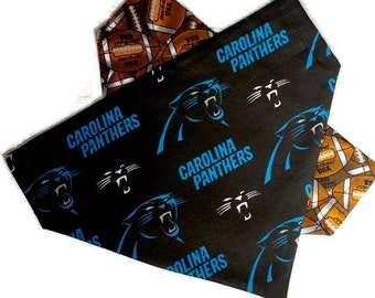 Carolina Panthers Over the Collar Dog Bandana // Panthers Reversible Bandanna // Carolina Panthers Dog Gift / Panthers Dog Scarf / Charlotte