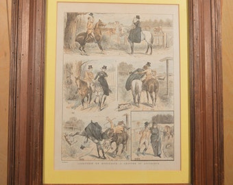 "Framed Print ""Courtship on Horseback"""