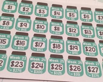 S15 || 52 Week Savings Challenge Stickers