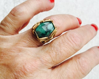 TURQUOISE and 14 Karat Gold Fill Ring