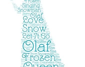 Frozen Wordart