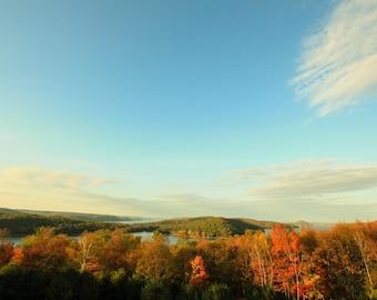 Fall Foliage over Quabbin Reservoir