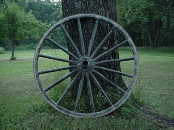 Buggy Wheel Hub : Antique amish wagon wheel hub salvage black