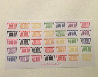 35 Rainbow/Pastel Laundry Baskets