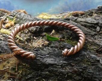 Celtic style handmade copper bracelet