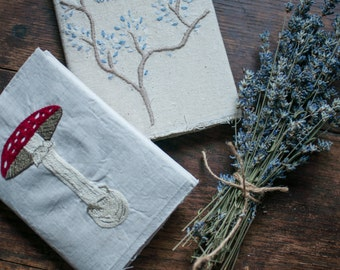 Hand Embroidered Blank Journal