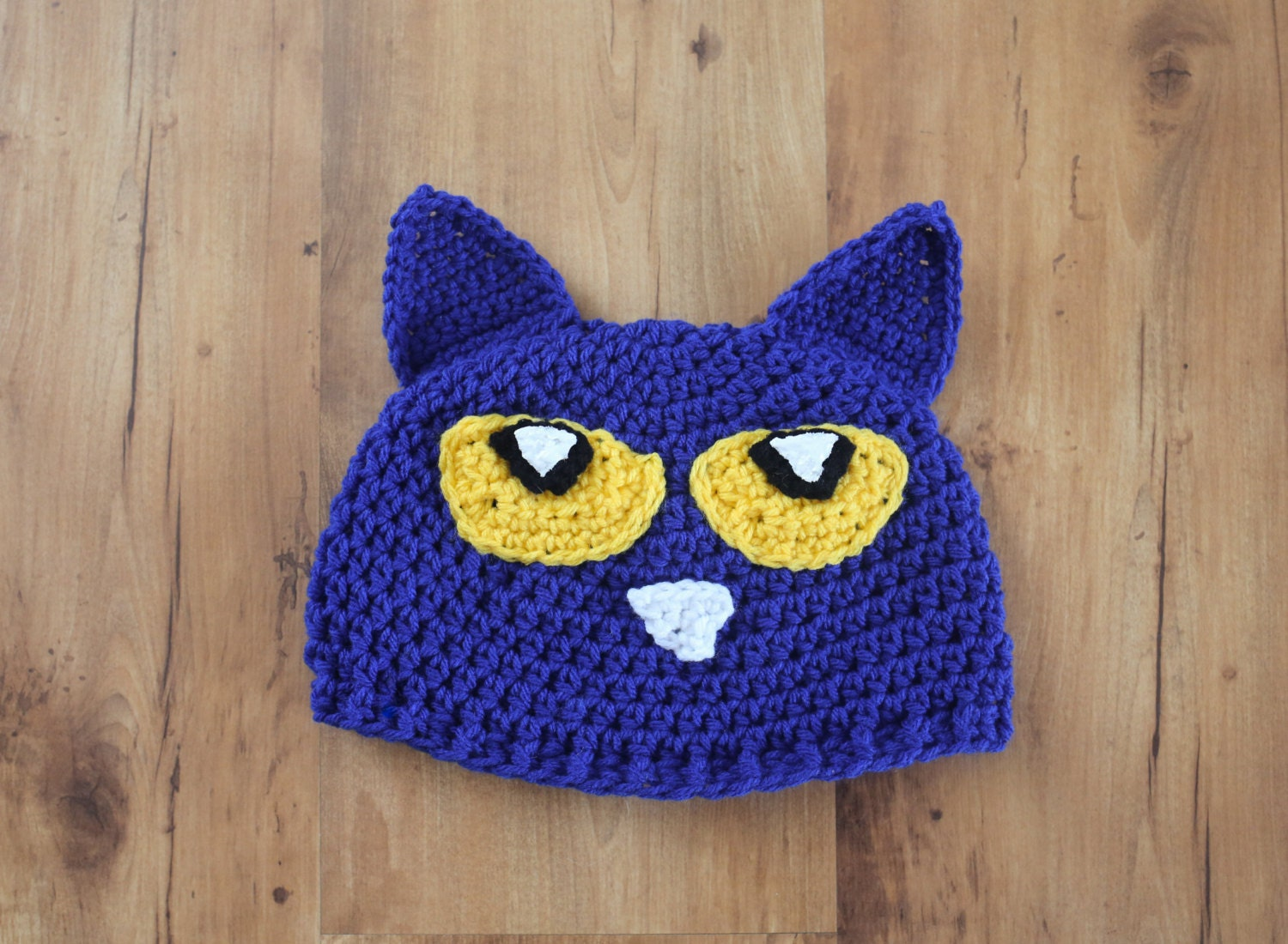 Pete The Cat Hat Inspired Hat I Love My White Shoes Blue Cat