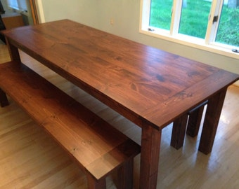Early American Farm Table - Up To 9' Length!!!