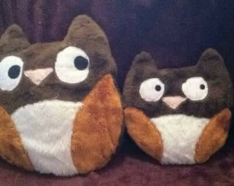 Large and Small Matching Owl Pillows
