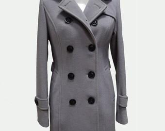 Custom Women's Coat, Gray Coat, Woman coat, Wool coat, Woman's Coat, Tailored Coat, Custom Coat, Womans Gray Coat