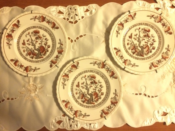 3 Myott Staffordshire England Dynasty 8 in Dessert Plate (With Hangers)