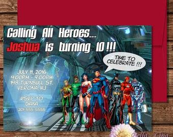 Justice League Invitation