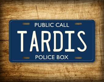 Doctor Who TARDIS License Plate Public Call Police Box Blue Car Auto Tag Movie Dr. Who