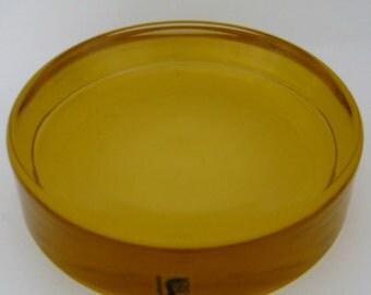 Seguso Amber Disc Bowl