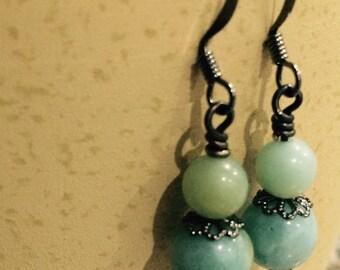 Vintage look Amazonite Earrings