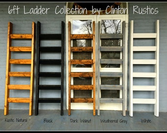 """6ft x 21 """"Jonathan Collection"""" Blanket Ladder - Handcrafted in the USA...."""