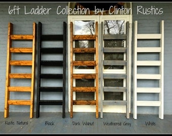 6 ft x 21 inches Blanket Ladder - Handcrafted in the USA....