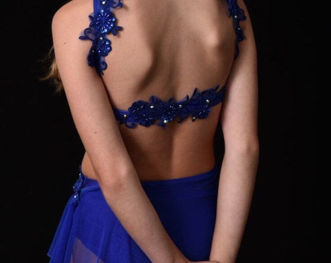 Lyrical dance costume,Lyrical girls Dance Costume, Lyrical Dance costume, solo Dance Costume, Lyrical dance costume sample sale  size LC
