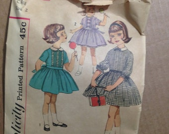 Mid-century Pattern SIMPLICITY #4067.  Child Size 2