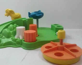 Fisher Price Vintage Little People Playground Accessory Set #2525. (1986)!