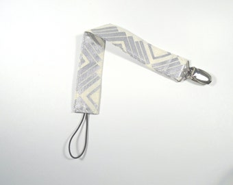 Pacifier Clip - Binky Holder - Paci Clip - Silver Glitter