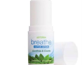 doTERRA Breathe Vapor Stick Soothes and Cools Allergies Natural Therapy Cold and Flu New Sealed 4 oz Eucalyptus Melaleuca Aroma Therapy