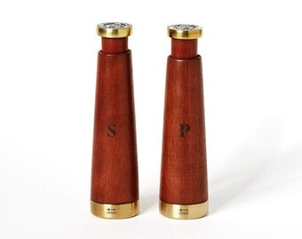 Salt cellar and pepper mill - Wood and bronze from Argentina - Kamyno