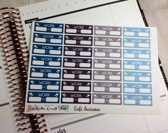 Planner Stickers-Soft Autumn Work stickers