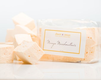 Mango gourmet marshmallows